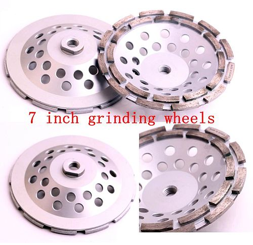 DC-DRCW 7 inch 180mm diamond grinding wheels with arbor 5/8-11 for stone and concrete floor grinding
