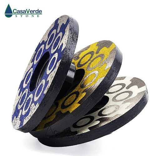 3pcs/lot Diameter 100mm 4 inch sharpness type resin filled diamond grinding wheels for grinding and polishing stone