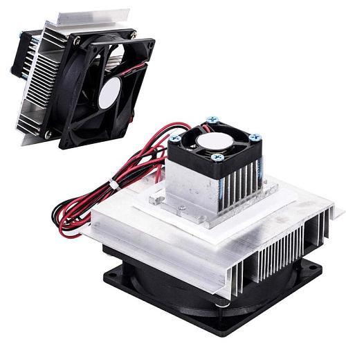 Thermoelectric Peltier Refrigeration Cooling Heatsink Module Kits Cooler Fan 12V