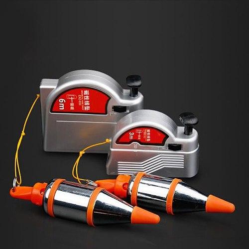 Plumb Bob Setter Magnetic Plumb-Rite with 3/6/4.5/8M Auto Recoiling Cord Quick-Stabilizing Bob JA55