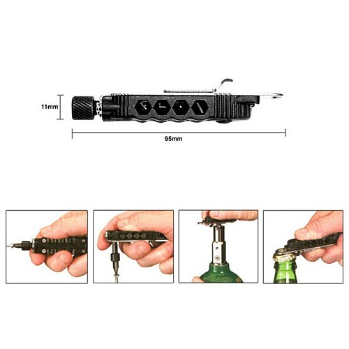 Newest Adjustable Mini Multi-function Screwdriver Outdoor Portable Tool Set With LED Night Light Use For Outdoor Camping 4