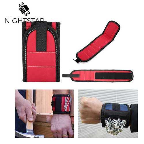 Magnetic Wristband Wrist Band Belt Tool Screw Holder Wristband Band Tool Bracelet Belt Support Chuck Sports Protection Kit