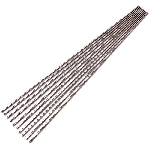 10Pcs 2mm Diameter Titanium 6al-4v Round Bar Ti Gr.5 Welding Grade 5 Rods 250mm Length Welding Rod High Temperature