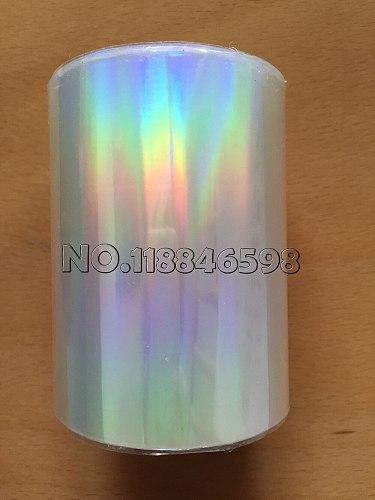 Holographic Foil Plain Transparent Foil Hot Stamping On Paper or Plastic 8cm x 120m/Lot DIY Package Box