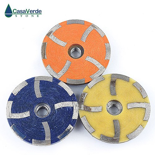 DC-RCW 3pcs/set Diameter 100mm resin filled steel core stone 4 inch diamond cup wheels for grinding stone