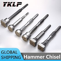 Alloy Point Groove Gouge Flat Round Chisel Electric Hammer Drill Bit Stone Slab/Bridge/Wall/Cement Pavement Chisel