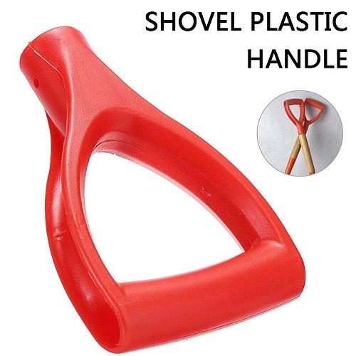 Red Plastic Handle Shovel Replacement D-Grip Handle For Spade Fork Shovel 32mm