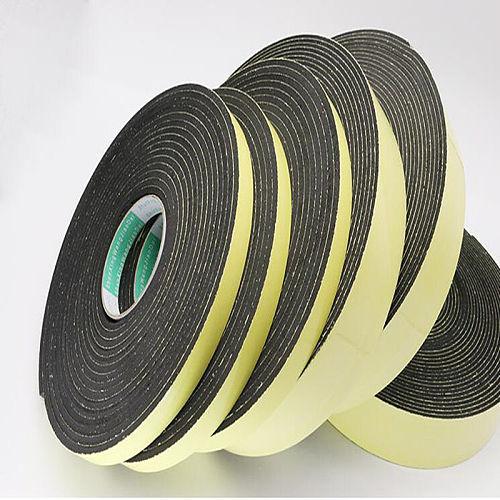 Strong adhesion  EVA black sponge foam  rubber tape  anti-collision seal strip 1, 2, 3mm thick