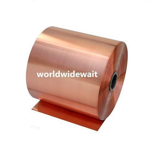 1PC 200 x 1000mm 99.9% Pure Copper Cu Metal Sheet Foil Plate 0.05/0.08/0.1/0.2/0.3/0.4/0.5/0.6/0.8/1mm Thickness