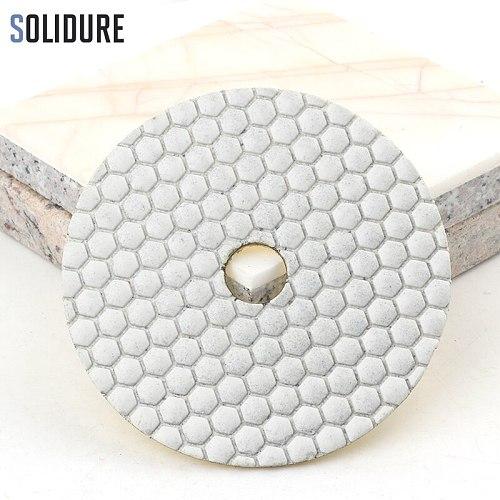 5pcs/set 4 inch 100mm diamond dry 5 step polishing pads Diamond Granite Polishing Tool Marble Concrete Grinding