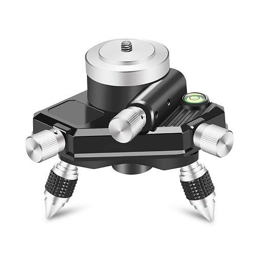 Laser Level Meter Bracket Aluminum Alloy Accuratly Adjustable Laser Level Meter Holde Detachable Feet Stable For Green 12 Lines
