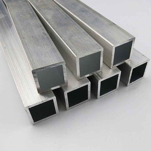 6063 Square Metal Aluminium AL Tube Pipe 10x10mm 20x20mm Customized Length DIY Material for Model Part Accessories DIY Car Frame