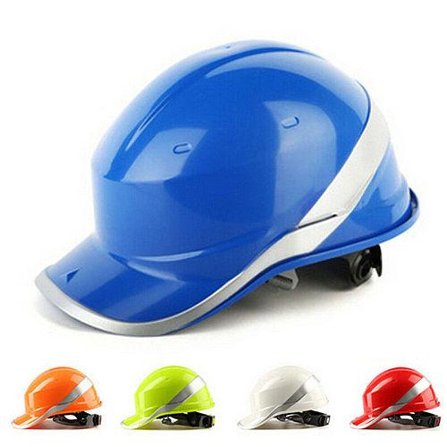 Delta Plus Diamond Hard Hat Safety Helmet Blue Hi Viz Textile Cradle Venitex