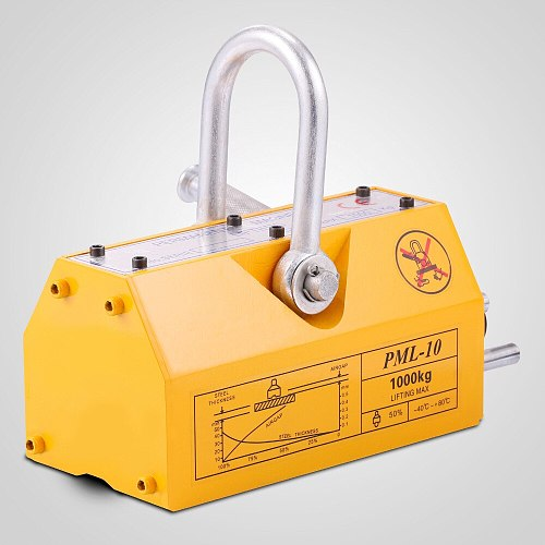 100~5000KG Professional Steel Magnetic Lifter Jack Heavy Duty Crane Hoist Lifting Magnet Lifting Tool Port 220~11023lb