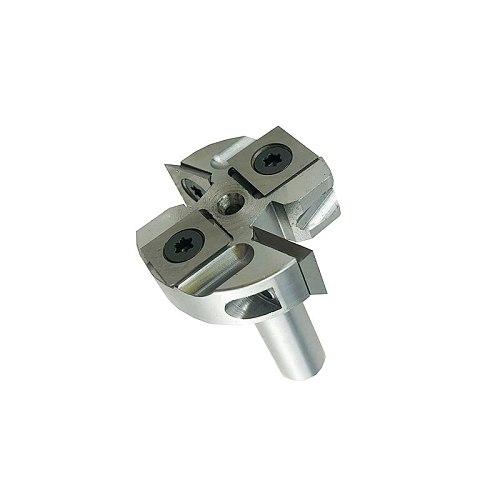 LIVTER Insert Mini Surfacing & Rabbeting Flycutter 2+2 Flute Design 1-12 D  x 12mm shank Router Bit inset-style spoliboard