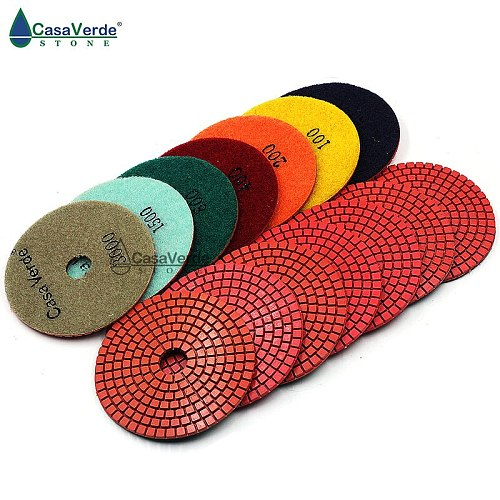 Free Shipping DC-LRPP02 Wet 4 (100mm) with 2.5mm wet diamond polishing pads for Granite and Marble