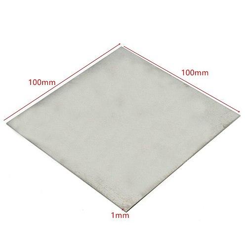 1mm x 100mm x 100mm Titanium Metal Plate Titan Platte Sheet Gr.5 Gr5 Grade 5 Ti Temperature 400-600 Degree Corrosion Resistance