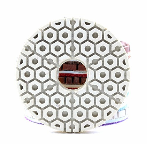 DC-FDFL01 diamond 4 inch 100mm wet diamond resin floor polishing pads for stone or concrete floor with free shipping