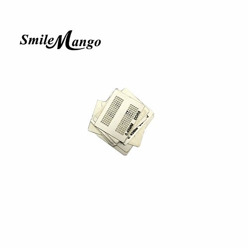 SmileMango 2017 High Quality Heat Rework Reballing Universal Stencil Template 12pcs BGA Directly