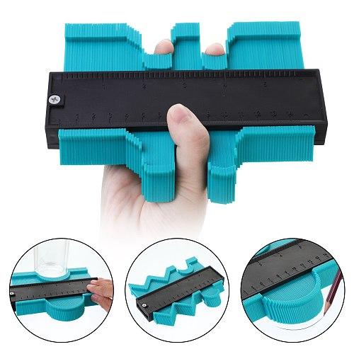 Plastic Irregular Shaper Profile Ruler Gauge Duplicator Contour Scale Template Curvature Scale Tiling Laminate Contour Tool