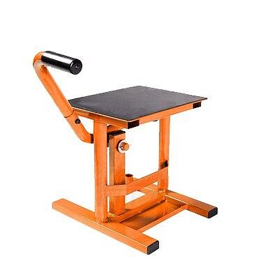 Adjustable jack lift maintenance stand for adventure travel motorcycle street car lift iron black + orange