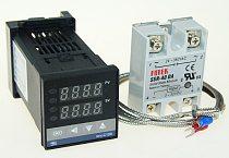 REX-C100 Digital RKC PID Thermostat Temperature Controller digital 40A SSR Relay/K Thermocouple Probe/heat sink