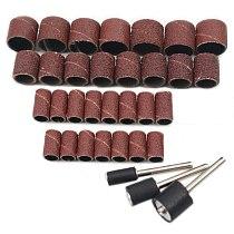 30 pcs 80# per pack abrasive sand paper ring sand paper wheel grinding bits polishing roller peeling wheel sand paper roller