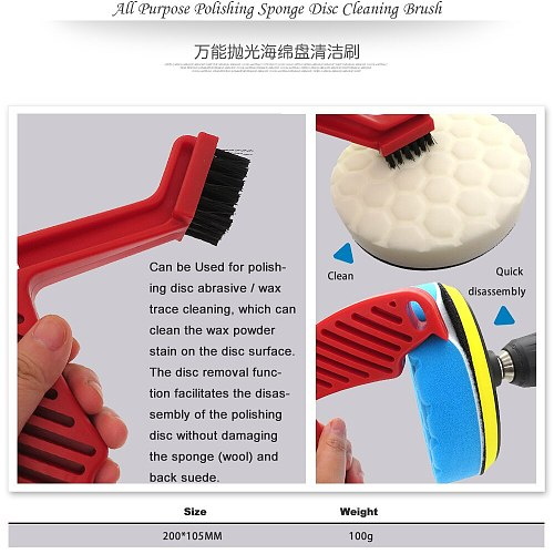 All Purpose Polishing Sponge Disc Cleaning Brush Sponge Abrasive Cleaning Sponge Waxing Buffing Handle Cleaning Brush