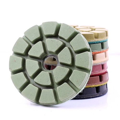 DC-TZFL01 diamond 3 inch wet diamond resin floor polishing pads for stone or concrete floor with free shipping