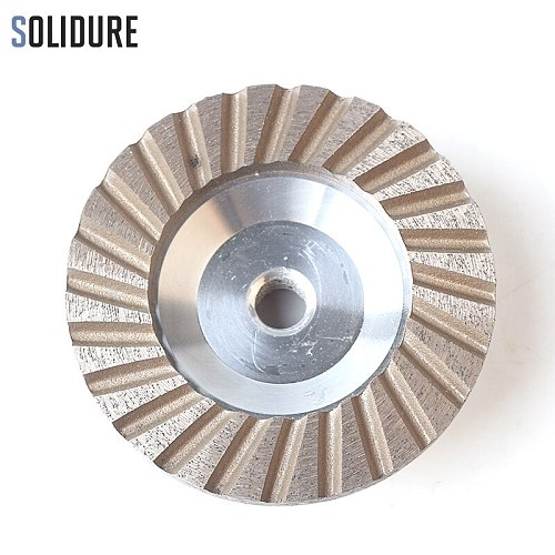 4 inch Grit 35# diamond cup wheels turbo cup grinding Aluminum backer abrasive tools for grinding stone,concrete and tiles
