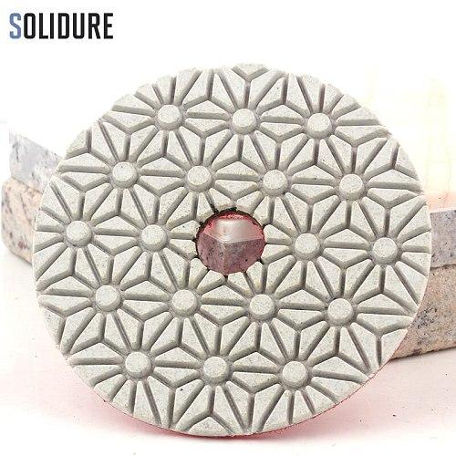5pcs/set 4 inch 100mm dry or wet 5 step polishing pads Diamond Granite Polishing Tool Marble Concrete Grinding