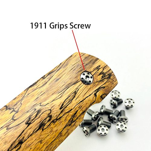 4Pieces Customized 1911 Grips Screws Stainless Steel CNC  T8 Plum Screw 1911 Grip Nail