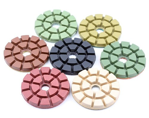 DC-TZFL02 diamond 4 inch 100mm wet diamond floor polishing pads for stone or concrete floor with free shipping
