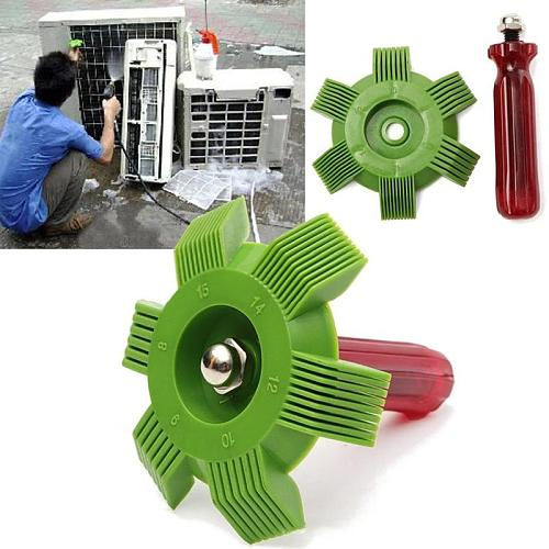 Universal Car A/C Radiator Condenser Fin Repair Comb Cooler Air Conditioner Straightener Cleaning Tools for Auto Cooling System