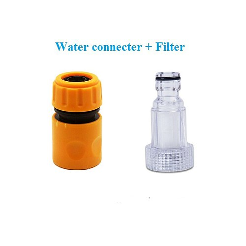 Water Connector +filter Acessories Car Washer Adapter Pressure Washer Connector Filter Hose Pipe Fitting Nozzle High Quality