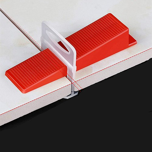 400pcs PE Plastic Tile Flat Leveling System Spacers Straps Clips Device Wall Flooring Tiles Kits For Perfect Tile Tool Tile Home