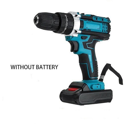 3 in 1 Cordless Electric Drill Household Torque Gear Drill Hammer Drill Brushless Electric Screwdriver Mini Power Tools