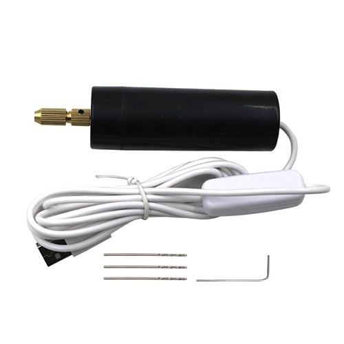 2021 New Portable Mini Electric Hand Drill Micro USB Small Drill Chuck Tools with 3pc Bits