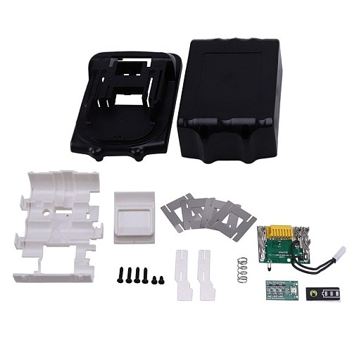 For Makita 18V BL1850 BL1830 Battery Case Kit with PCB Circuit Board LED Indicator Power Tools Battery Case(No Cell)