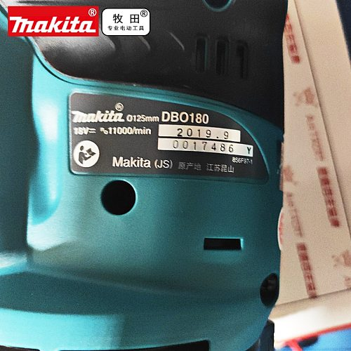 MAKITA DBO180Z LXT 18V  DBO180 125MM RANDOM ORBIT SANDER BODY  for Drill