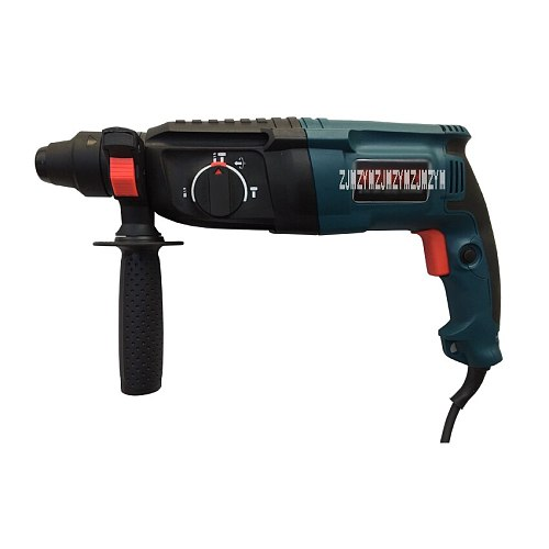 Z1A-BR-26SE 800W 3 Operating Modes Electric Rotary Impact Hammer Drilling Machine Household Concrete Bricks Wall Working Power