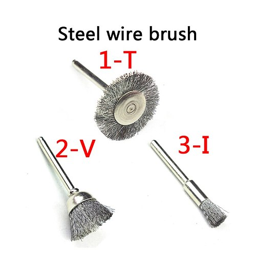 10x Steel Wire Wheel Brush dremel tools accessories rotary tool for mini drill tools wire brush electric burr abrasive deburring