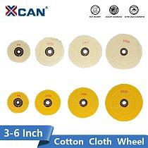 XCAN Buffing Wheel Mirror Polish Tools 3 4 5 6 Inch White/Yellow Inner Hole 10-16mm For Metal Polishing Tool Cotton Cloth Wheel