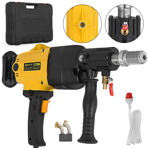 2180W 160mm Diamond Core Drilling Machine Handheld Diamond Core Drill Rig Variable Speed Wet Dry Drill Rig Concrete