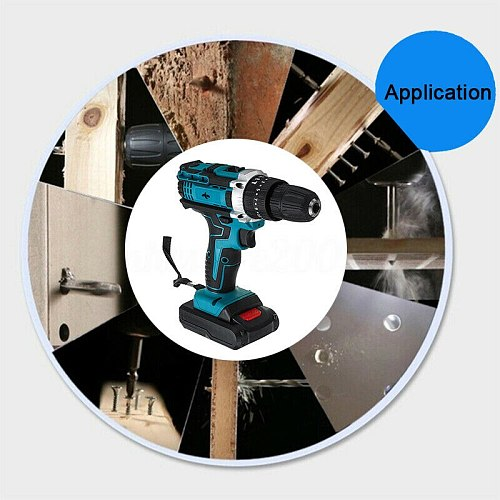 3 in 1 Cordless Electric Drill Brushless Electric Screwdriver Household Torque Gear Drill Hammer Drill Mini Power Tools