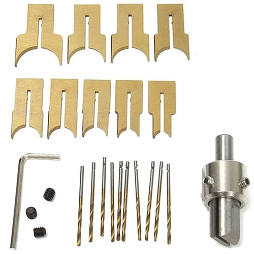 GTBL 1Set Alloy Ball Knife Diy Woodworking Tools Wooden Beads Drill Rosary Bead Molding 6/8/10/12/14/16/18/20/22mm