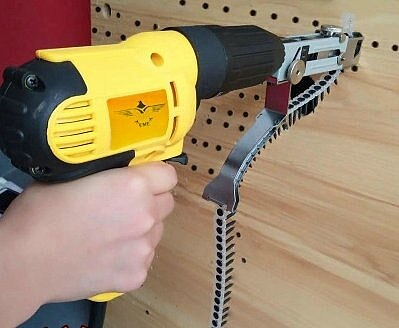 Woodworking decorative drill electric chain gun automatic send nail gun tool, for plaster workpiece  ceiling wooden box binding