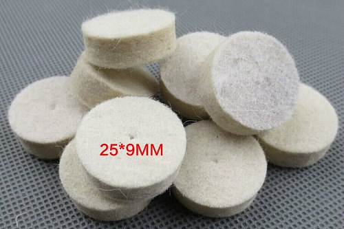 25Ps 13mm/25mm Wool Felt Polishing Buffing Wheel Grinding Head Polishing Pad+2pcs 3.2 mm Shanks for Dremel Rotary Tool Accessory