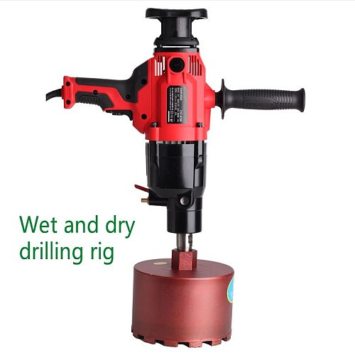 Wet and dry water drilling rig diamond drilling rig engineering drilling rig water electric drill water mill drill