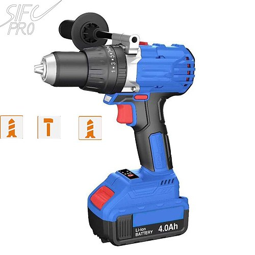 Sifc Pro Ice Drill SC189 Brushless Motor Impact Drill Max 130N.m Torque Drill Machine  with 4.0ah battery